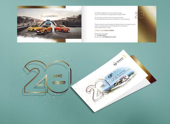 Renault Alès fete ses 20 ans avec l'agence Love My Name
